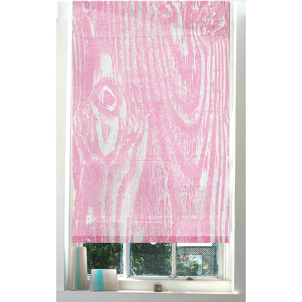 Wood Grain Pink roller blind