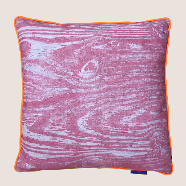 Wood Grain Pink Cushion Limited Edition 45x45