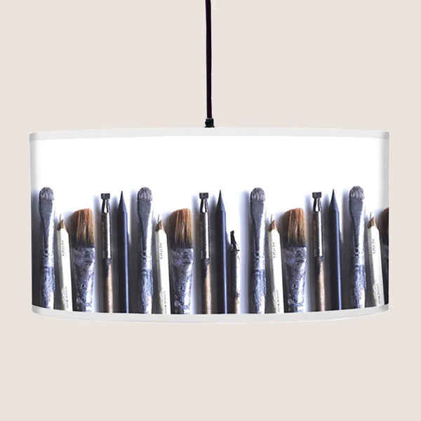 "Artist's Tools 20"" lampshade"