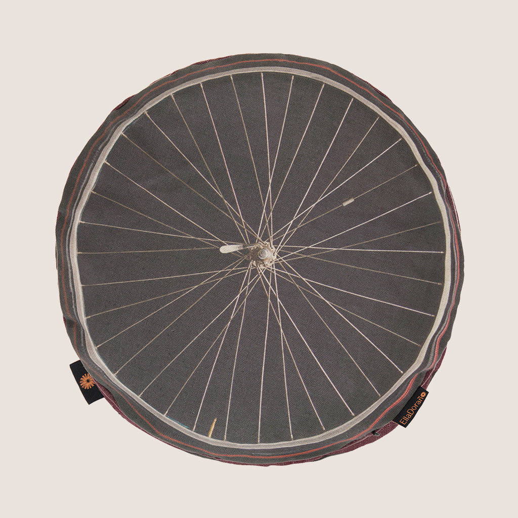 Bike Wheel Black cushion