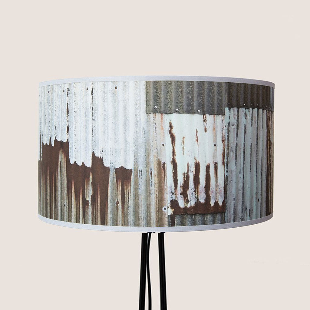 "Corrugated Chic 18"" lampshade"