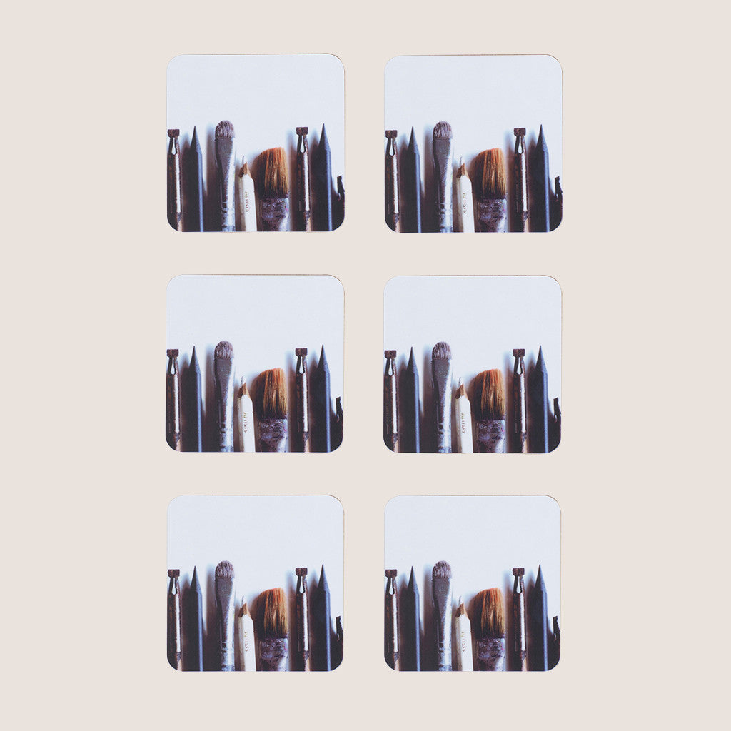 Artist's Tools coasters set of 6