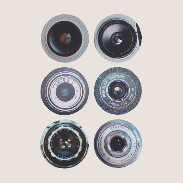 Camera Lenses coasters set of 6