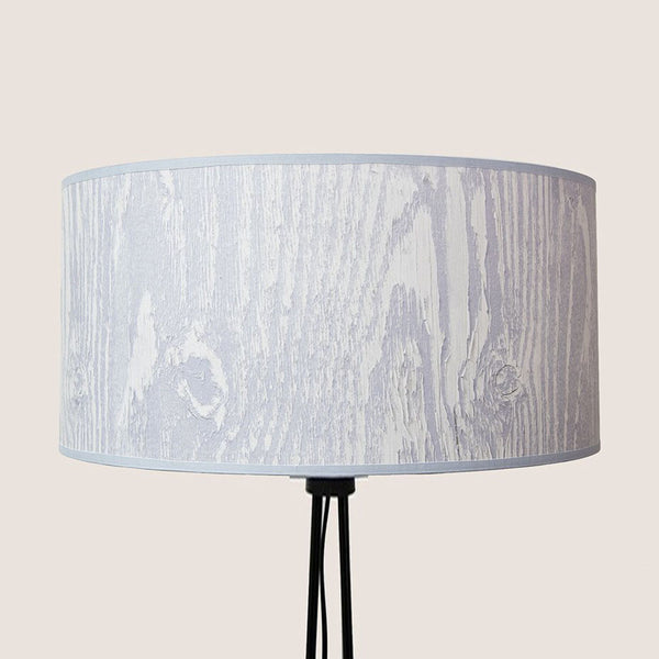 "Wood Grain Grey 20"" lampshade"