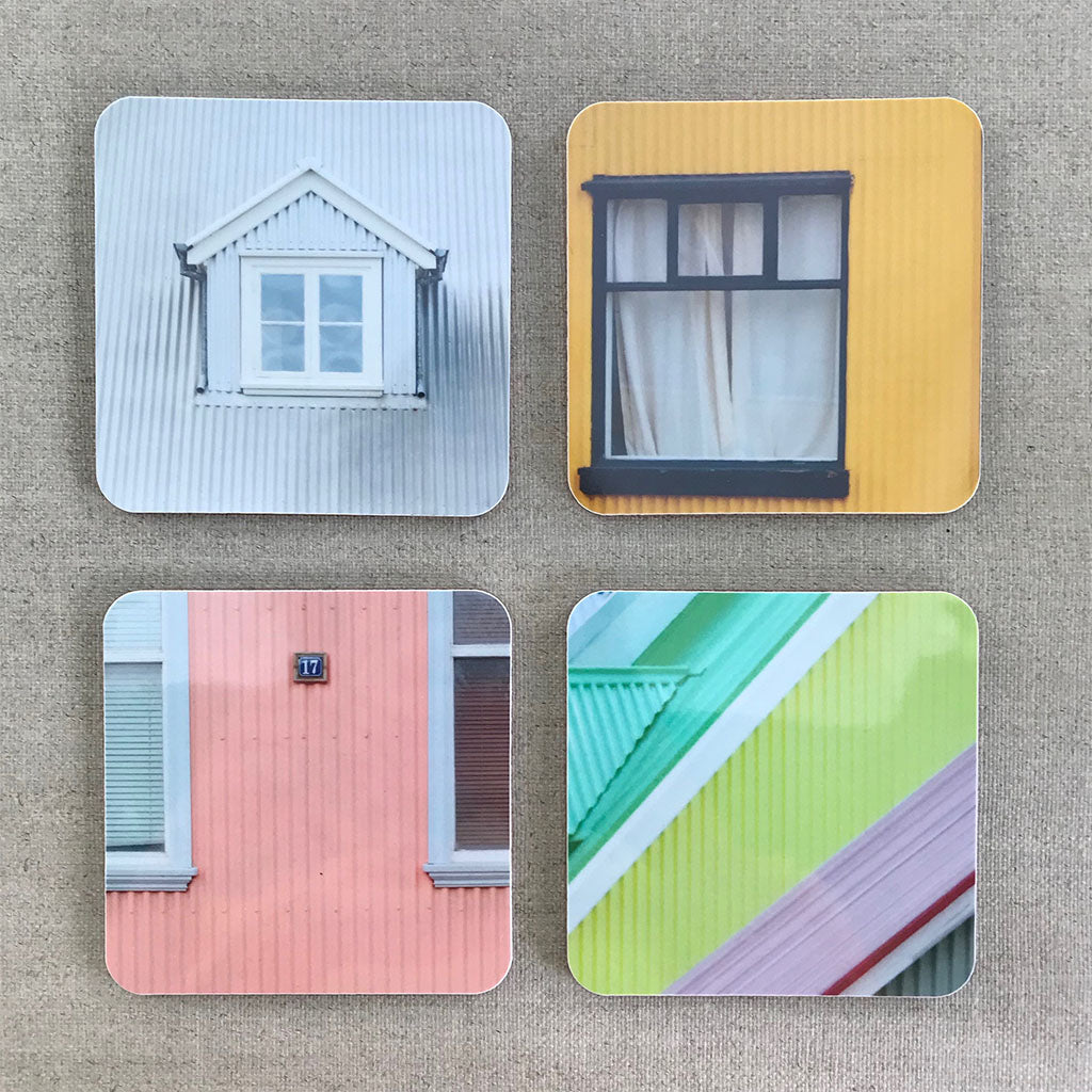 Rekki in Reykjavik coasters set of 4