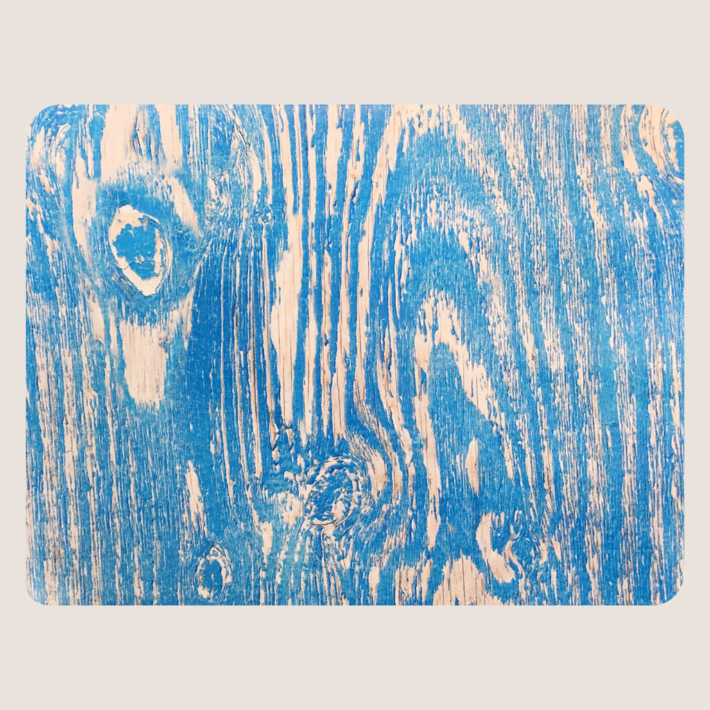 Wood Grain Blue large tablemat
