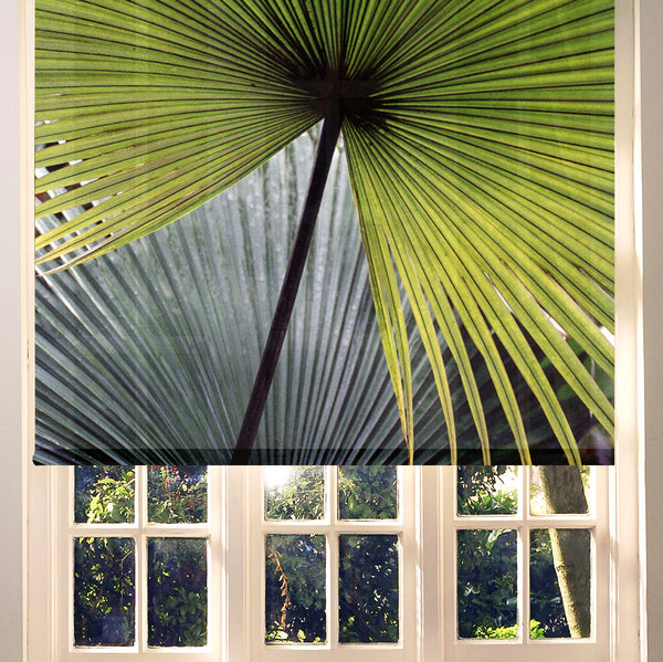 Palm leaves roller blind