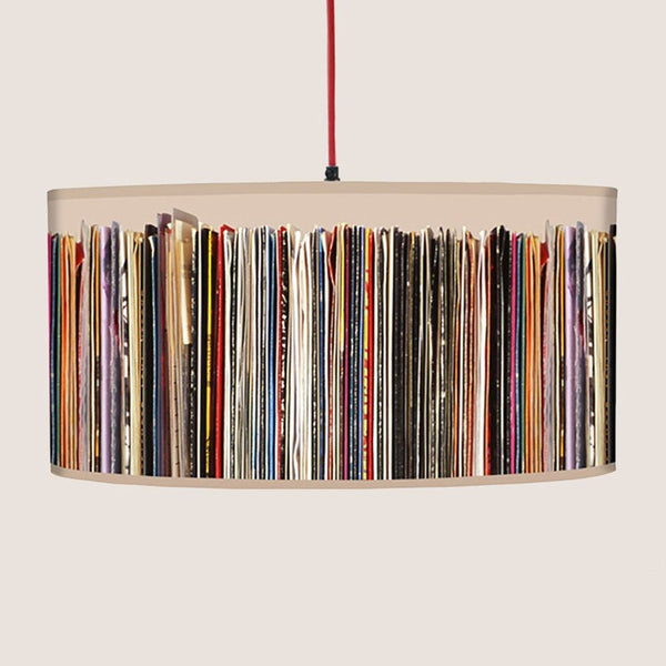 "Stacks and Stripes 20"" lampshade"