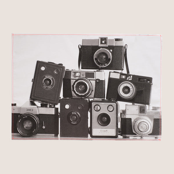 Camera Stack tea towel