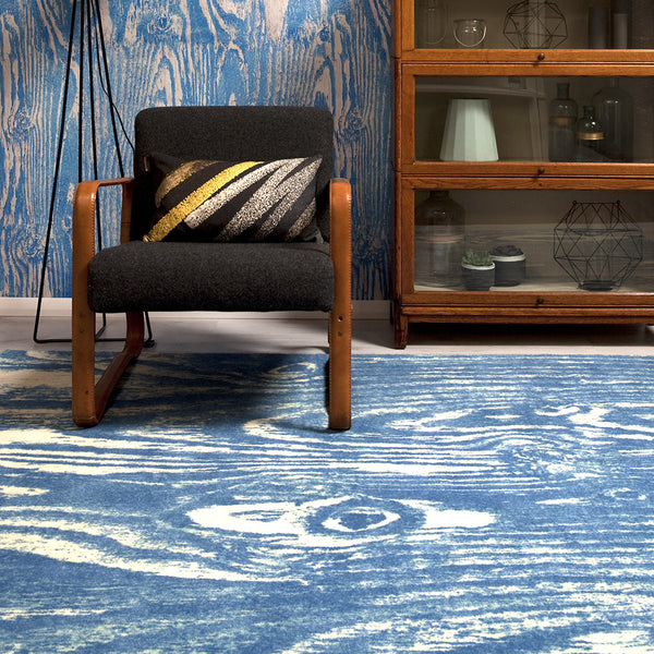 Wood Grain Blue rug