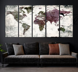 38514 - World Map Wall Art- World Map Canvas- World Map Print-  World Map Poster- World Map Art- World Map Push Pin