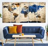 63115 - World Map Canvas, World Map Canvas Art, Large World Map, World Map, World Map Print, World Map Wall Art,
