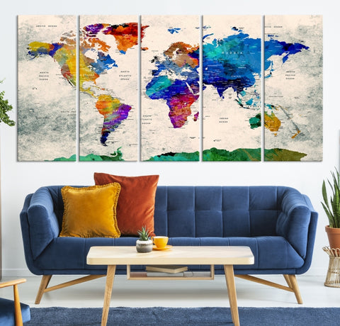 68768 - World Map Canvas, World Map Canvas Art, Large World Map, World Map, World Map Print, World Map Wall Art,