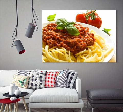 37092 - Large Wall Art Bolognaise Spaghetti Canvas Print for Restaurant