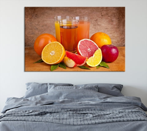 86326 - Large WAll Art Tropical Fruits Canvas Print