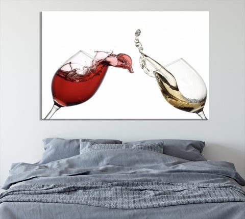 81611 - Large Wall Art Red and White Wine in Glass Canvas Print