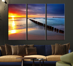 Sunshine on Sea View Canvas Print-Extra Large Wall Art Canvas Print