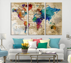 40757 - Rainbow Color Modern World Map Canvas Print.jpg