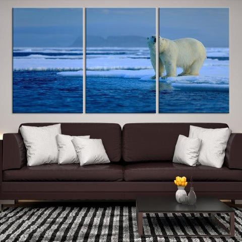 97674 - Large Wall Art Bears Canvas Print - Framed - Ready to Hang-Giclee Canvas Print-Push-Pin-World-Map-Extra Large Wall Art Canvas Print