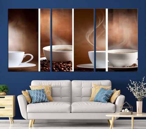 92102 - Coffee Canvas Print for Cafe, Restaurant and Bar