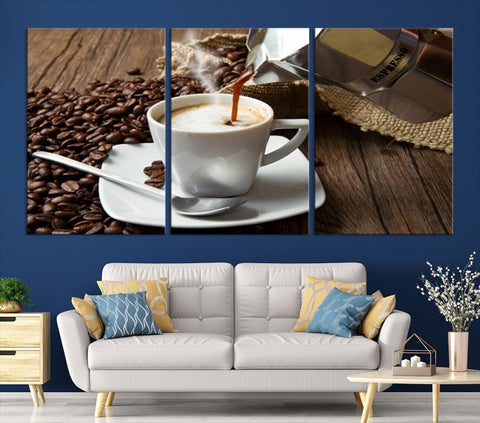 99780 - Large Wall Art Espresso Coffee Canvas Print for Cafe and Pubs