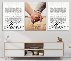 Wedding Vow First Lyrics Personalized Wall Art Canvas Print, Anniversary Gift Art, Wedding Gift