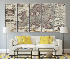 Age of Ancient Europe Map Canvas Print, Ancient Map of the Europe No:096-Wall Art Canvas-Extra Large Wall Art Canvas Print-Extra Large Wall Art Canvas Print