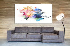Art Print - Large Wall Art Watercolor Abstract Canvas Print- Wall Art Framed Canvas Print-Wall Art Canvas-Extra Large Wall Art Canvas Print-Extra Large Wall Art Canvas Print