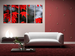 Autumn and Red Leaves Canvas Prints, Prints For Wall, Framed Ready to Hang, Autumn Prints On Canvas, 100% Quality Prints - MC120-Wall Art Canvas-Extra Large Wall Art Canvas Print-Extra Large Wall Art Canvas Print
