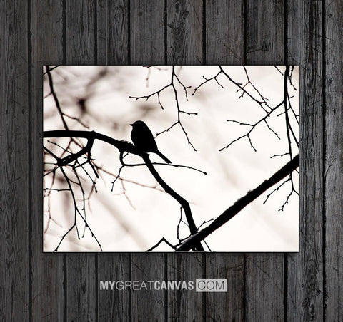 Bird on Branch Art Canvas Print for Great Home Decoration | Wall Art Canvas Bird on Branch-Wall Art Canvas-Extra Large Wall Art Canvas Print-Extra Large Wall Art Canvas Print