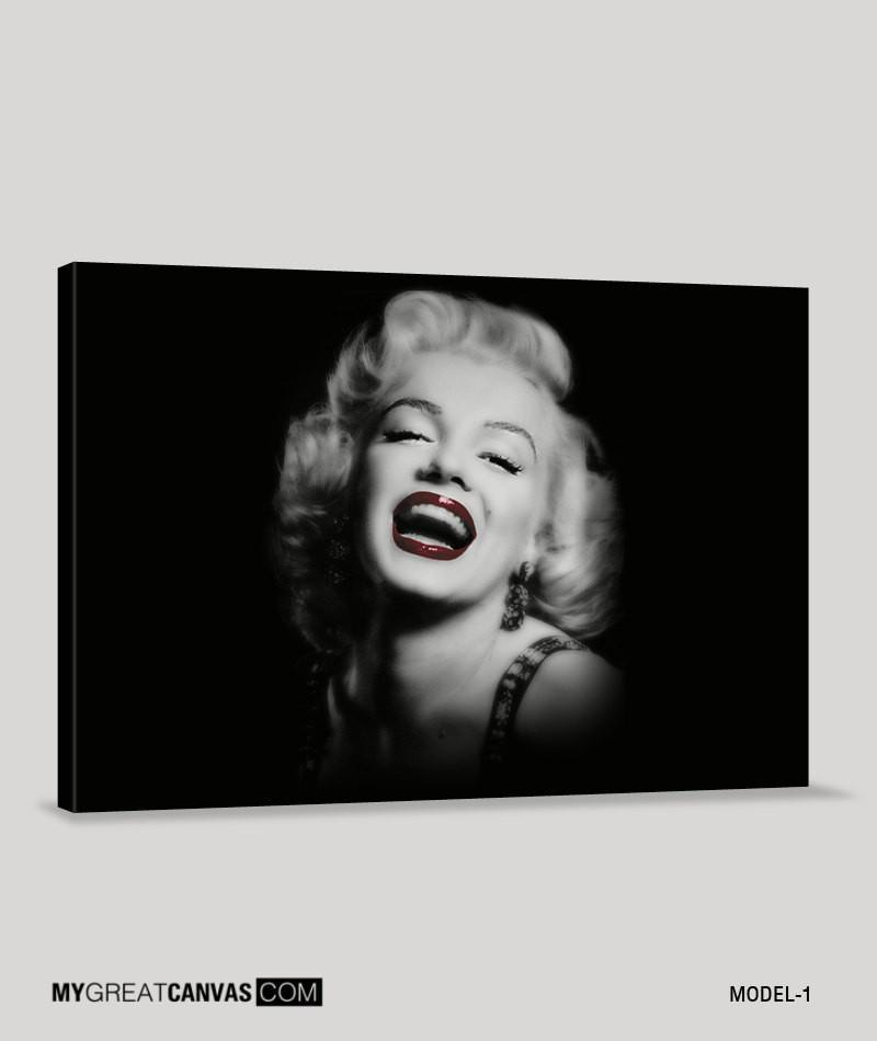 Black and Red Marilyn Monroe Canvas Printing | Marilyn Monroe Art Canvas | Large Canvas Print-Wall Art Canvas-Extra Large Wall Art Canvas Print-Extra Large Wall Art Canvas Print