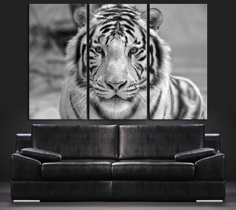 Canvas ART Bengal Tiger Canvas Print + Tiger Art Canvas Print + Ready to Hang + Great Gift + 2 Different Model-Wall Art Canvas-Extra Large Wall Art Canvas Print-Extra Large Wall Art Canvas Print