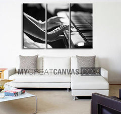 Canvas ART Piano and Women Canvas Print + Music Theme Art Canvas Print + Ready to Hang + Great Gift + Holland Landscape Canvas-Wall Art Canvas-Extra Large Wall Art Canvas Print-Extra Large Wall Art Canvas Print