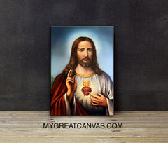 Canvas Print Jesus | Christian Art Canvas Print-Wall Art Canvas-Extra Large Wall Art Canvas Print-Extra Large Wall Art Canvas Print