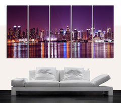 Canvas Print NEW JERSEY Skyline - Canvas New Jersey Landscape Large Art Print - Large Wall Art Canvas-Wall Art Canvas-Extra Large Wall Art Canvas Print-Extra Large Wall Art Canvas Print