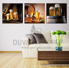 Canvas Print Ready to Hang 3 Panels - Best Quality Print for Great Home Decorations -Beers-Wall Art Canvas-Extra Large Wall Art Canvas Print-Extra Large Wall Art Canvas Print
