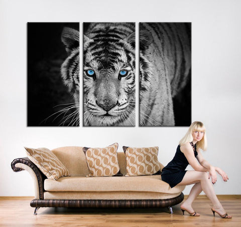 Canvas Print - Siberian Tiger Canvas Art - Siberian Tiger Canvas Print, Tiger Print, Ready to Hanging, Cold Blooded - MC220-Wall Art Canvas-Extra Large Wall Art Canvas Print-Extra Large Wall Art Canvas Print