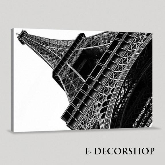 Decorative Black White France Paris Eiffel Tower Giclee Canvas Print Framed | Eiffel Tower Canvas Printing-Wall Art Canvas-Extra Large Wall Art Canvas Print-Extra Large Wall Art Canvas Print