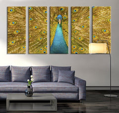 Extra Large Wall Art Peacock - Peacock Canvas Print - Large Art Peafowl Wall Canvas Print-Wall Art Canvas-Extra Large Wall Art Canvas Print-Extra Large Wall Art Canvas Print