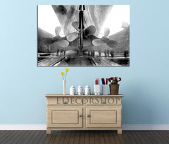 Extra Large Wall Art Titanic Propellers in Drydock Canvas Print-Wall Art Canvas-Extra Large Wall Art Canvas Print-Extra Large Wall Art Canvas Print