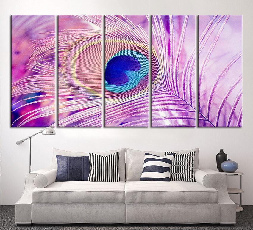 Extra Oversize Large Wall Art Peacock Feather Canvas Print - Peacock Feather Canvas Print - Large Art Peafowl Wall Canvas Print-Wall Art Canvas-Extra Large Wall Art Canvas Print-Extra Large Wall Art Canvas Print
