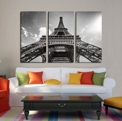 France Paris Eiffel Tower Large Wall Art Canvas Print, Paris Photo Canvas Print, 3 Panel Eiffel Tower 3 Panel Giclee Painting Wall Art-Wall Art Canvas-Extra Large Wall Art Canvas Print-Extra Large Wall Art Canvas Print