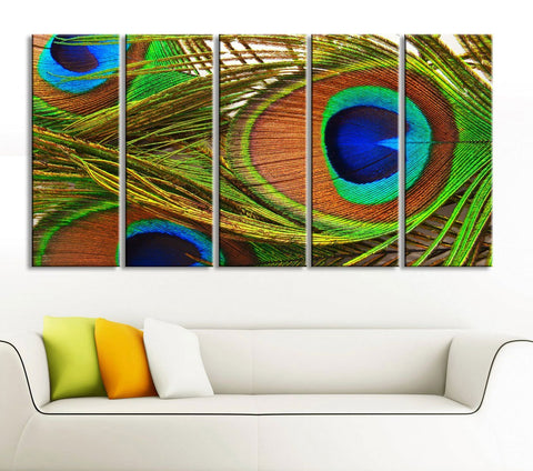 Large Canvas Art Print for Home Decoration, Ready Hanging, Great Print, Peacock Feather - MC86-Wall Art Canvas-Extra Large Wall Art Canvas Print-Extra Large Wall Art Canvas Print
