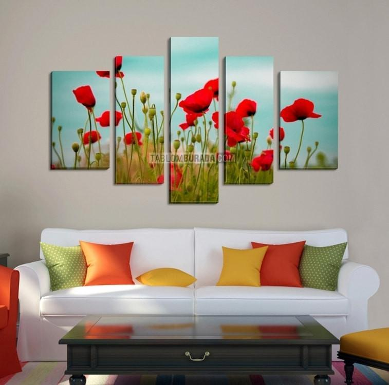 LARGE CANVAS Wall Art - Poppies Photo Print Canvas + Canvas Art Print + Art Wall + Large Canvas Art Print-Wall Art Canvas-Extra Large Wall Art Canvas Print-Extra Large Wall Art Canvas Print