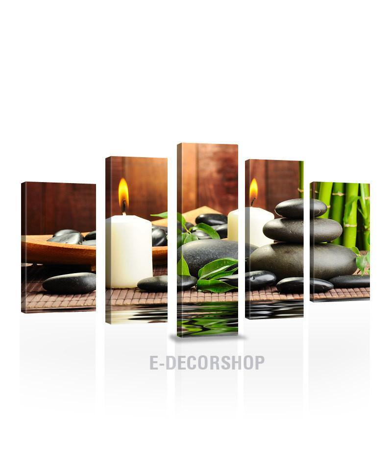 LARGE CANVAS Wall Art - Zen Yoga Relax Theme Canvas Print - Candle Light Stones Canvas Print - Wall Art Massage Decor-Wall Art Canvas-Extra Large Wall Art Canvas Print-Extra Large Wall Art Canvas Print