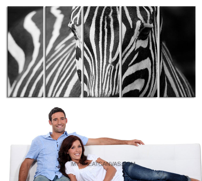 "Large Wall Art Beautiful Zebra Canvas Prints For Wall, EXTRA LARGE 60""32"" Ready to Hang-Wall Art Canvas-Extra Large Wall Art Canvas Print-Extra Large Wall Art Canvas Print"