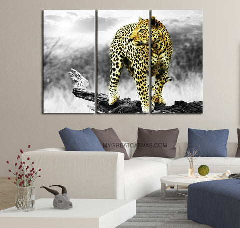 Large Wall Art Canvas ART Print Leopard Canvas Print + Leopard Pattern Art Canvas Print + Ready to Hang + Great Gift-Wall Art Canvas-Extra Large Wall Art Canvas Print-Extra Large Wall Art Canvas Print