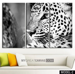 Large Wall Art Canvas Blue Eyed Tiger Print + Tiger Art Canvas Print + Ready to Hang + Great Gift + 2 Different Model-Wall Art Canvas-Extra Large Wall Art Canvas Print-Extra Large Wall Art Canvas Print