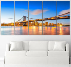 Large Wall Art Canvas New York Landscape and Manhattan City Skyline Canvas Art Print For Wall, Manhattan Prints On Canvas, 100% Quality-Wall Art Canvas-Extra Large Wall Art Canvas Print-Extra Large Wall Art Canvas Print