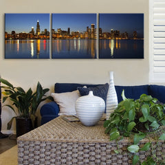 LARGE Wall Art Canvas Print Chicago Skyline Printing-Wall Art Canvas-Extra Large Wall Art Canvas Print-Extra Large Wall Art Canvas Print